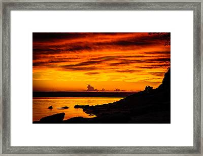 The Sky Is On Fire Framed Print