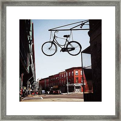 The Sky Is The Limit... #nyc Framed Print