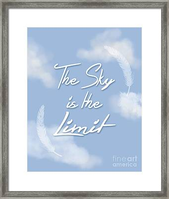The Sky Is The Limit Framed Print by Pati Photography