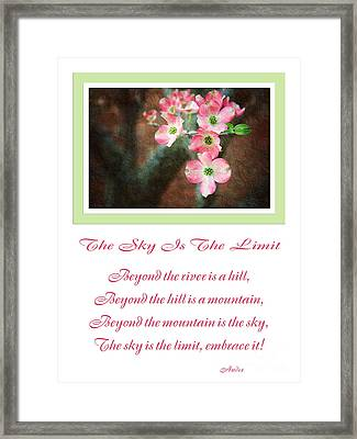 The Sky Is The Limit V 12 Framed Print by Andee Design