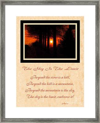 The Sky Is The Limit V 2 Framed Print