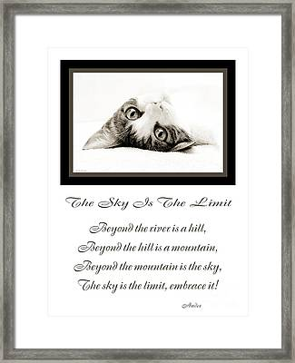 The Sky Is The Limit V 3 Framed Print by Andee Design