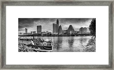 The Sky Is Will Be Crying Austin Texas Skyline Framed Print
