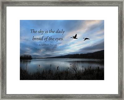 The Sky Framed Print