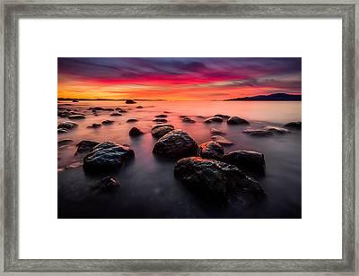 The Sky On Fire Framed Print by Alexis Birkill