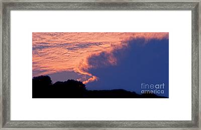 The Sky On Fire Framed Print by Stelios Kleanthous