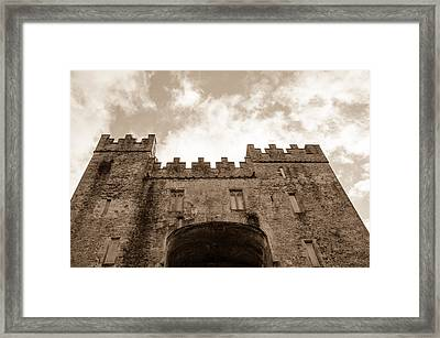 The Sky Over The Castle Keep Framed Print by AMB Fine Art Photography