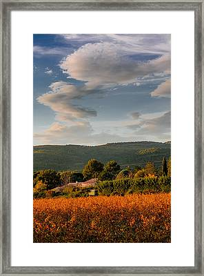 The Sky Over The Wineyard Framed Print