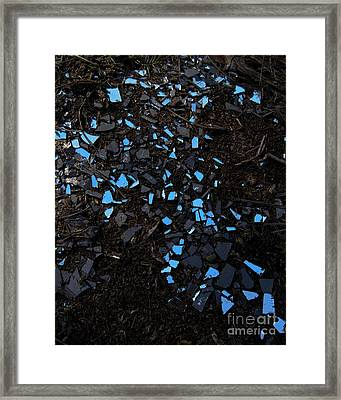 The Sky Reflected In A Broken Mirror Framed Print