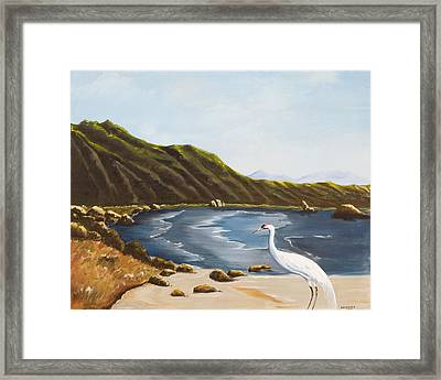Framed Print featuring the painting The Sky The Sea The Shore And More by Susan Culver