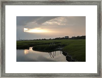 The Sky Tore Open Framed Print by Micaela Brown
