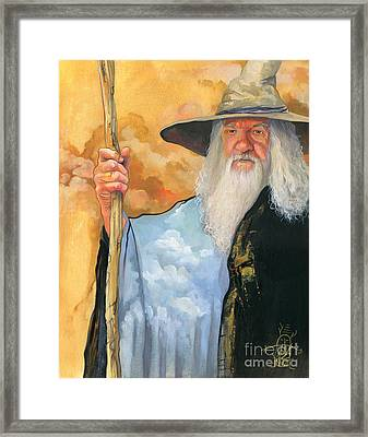The Sky Wizard Framed Print