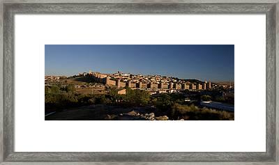 Framed Print featuring the photograph The Skyline Of Avila Spain by Farol Tomson