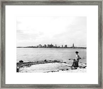 The Skyline Of Miami Framed Print