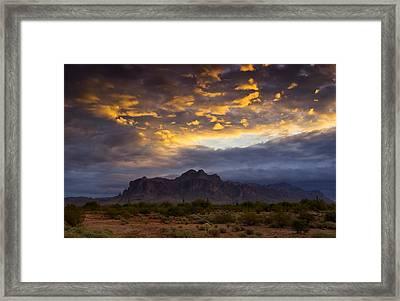 The Sky's Aglow  Framed Print