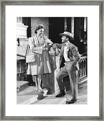 The Skys The Limit, From Left Joan Framed Print by Everett