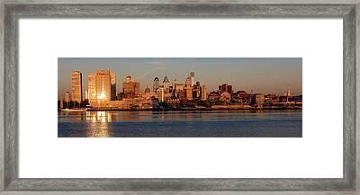 The Skyscrapers Of Philadelphia Rise Framed Print