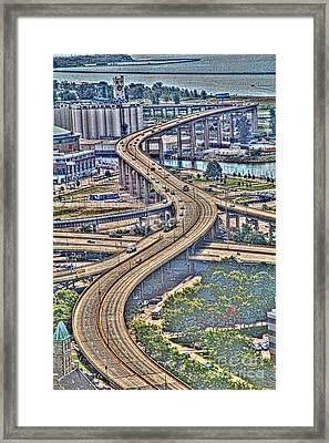Framed Print featuring the photograph The Skyway To The Southtowns by Jim Lepard
