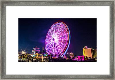 Framed Print featuring the photograph The Skywheel by Rob Sellers