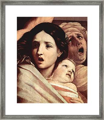 The Slaughter Of The Innocents Framed Print by Guido Reni