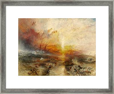 The Slave Ship Framed Print by JMW Turner