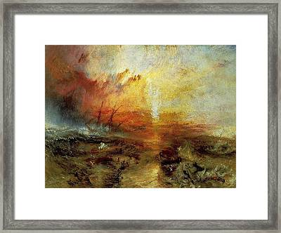 The Slave Ship Framed Print by J M W Turner