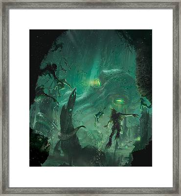 The Sleeper Below Framed Print