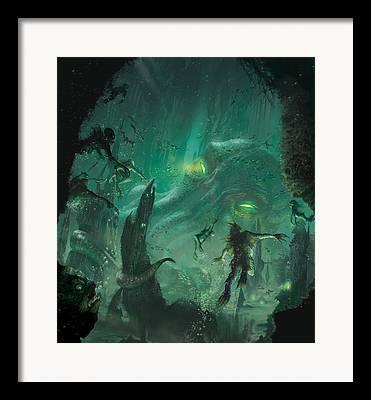Below Digital Art Framed Prints