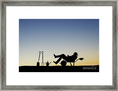 The Sleeping Gardener Framed Print
