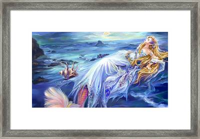 The Sleeping Mermaid Framed Print by Raphael  Sanzio