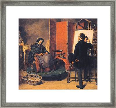 The Sleeping Model Framed Print by William Powell Frith