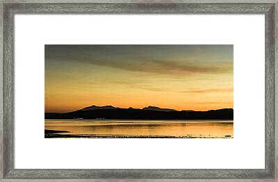 The Sleeping Warrior On The Isle Of Arran Framed Print by Tylie Duff