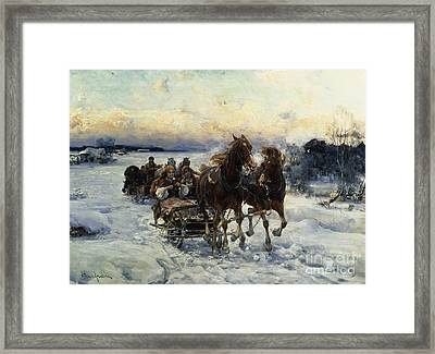 The Sleigh Ride Framed Print