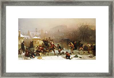 The Slide Below The Castle Edinburgh Framed Print by John Ritchie