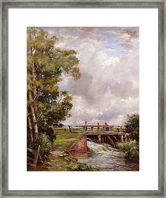 The Sluice Framed Print by Claude Hayes