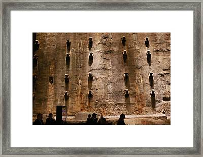 The Slurry Wall Framed Print by Allen Beatty
