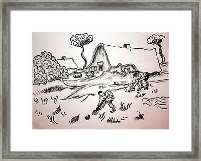 The Small Holding Framed Print by Paul Morgan