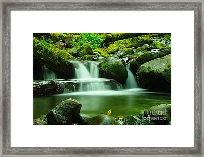 The Small Water Framed Print by Jeff Swan