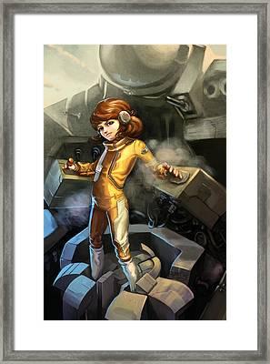 The Smallest Pilot Framed Print by Dorianne Dutrieux