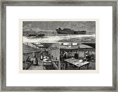 The Smallpox Epidemic And The Metropolitan Asylums Board Framed Print by English School