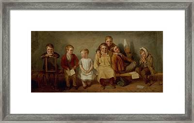 The Smile, 1842 Oil On Panel Pair Of 6132 Framed Print