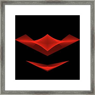 Framed Print featuring the digital art The Smile by Karo Evans