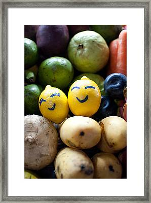 The Smiling Lemons Framed Print by Mohd Shukur Jahar