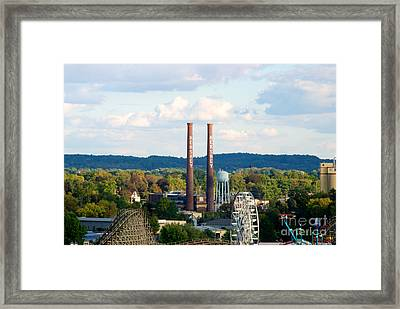 The Smoke Stacks Stand Resolute  Framed Print by Mark Dodd