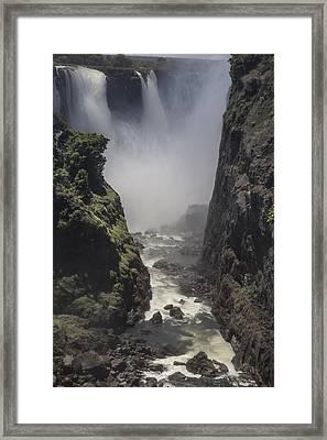 The Smoke That Thunders Victoria Falls Framed Print by Raffi  Bashlian