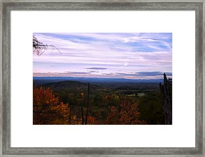 The Smokey Mountains From Hanging Rock State Park Framed Print
