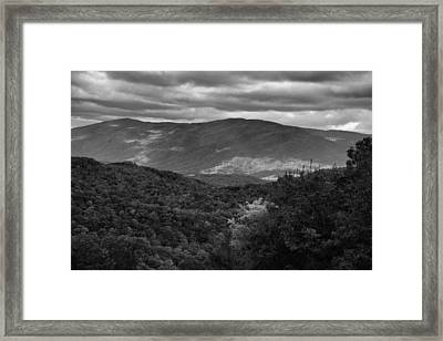 The Smokies In Black And White Framed Print