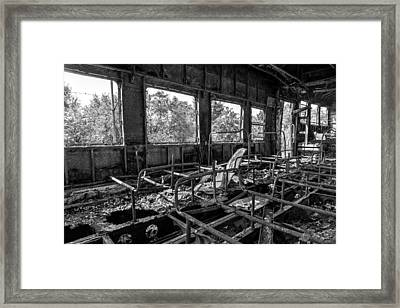 The Smoking Section Framed Print