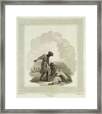 The Smoking Village Framed Print by British Library