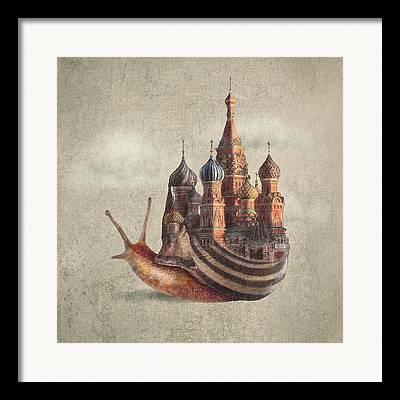 Swirls Drawings Framed Prints